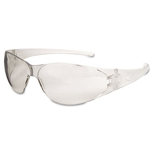 MCR Safety Checkmate Safety Glasses  Clear Temple  Clear Lens  Anti Fog (CRWCK110AF)