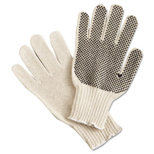 Memphis PVC Dot String-Knit Gloves, Cotton/Polyester, Large (MPG9650LM)