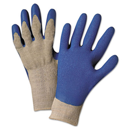 Anchor Brand 6030L Premium Knit-Back Latex-Palm, Gray/Blue, Large (ANR6030L)