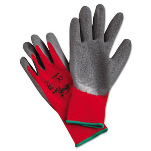 MCR Safety Ninja Flex Latex-Coated-Palm Gloves  Nylon Shell  X-Large  Red Gray (MPGN9680XL)
