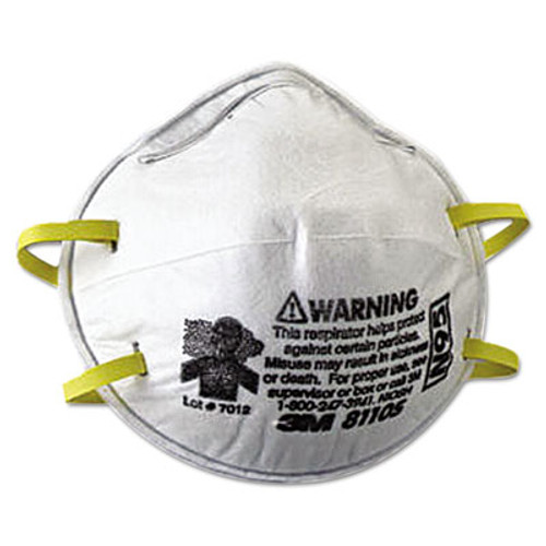 3M N95 Particulate Respirator, Half Facepiece, Small, Fixed Strap (MMM8110S)