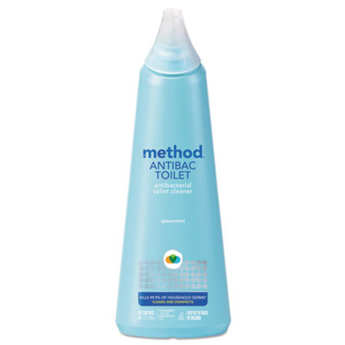 Method Antibacterial Toilet Cleaner, Spearmint, 24 oz Bottle (MTH01221)