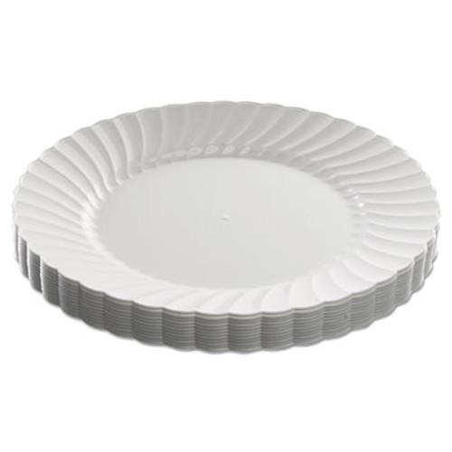 WNA Classicware Plastic Dinnerware Plates  9  Dia  White  12 Pack (WNARSCW91512WPK)