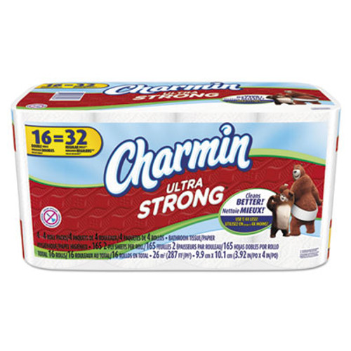 Charmin Ultra Strong Bathroom Tissue, 2-Ply, White, 154 Sheets/Roll, 16 Rolls/Carton (PGC92271)