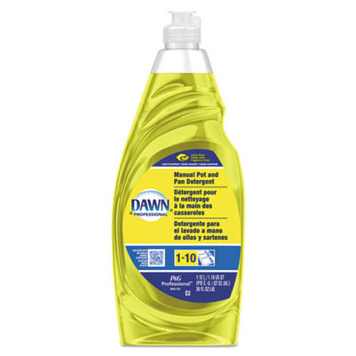 Dawn Professional Manual Pot Pan Dish Detergent  Lemon  38 oz Bottle (PGC45113EA)
