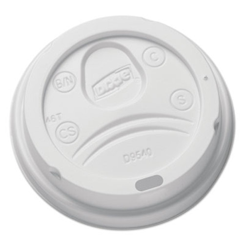 Dixie Sip-Through Dome Hot Drink Lids for 10 oz Cups  White  100 Pack (DXEDL9540)
