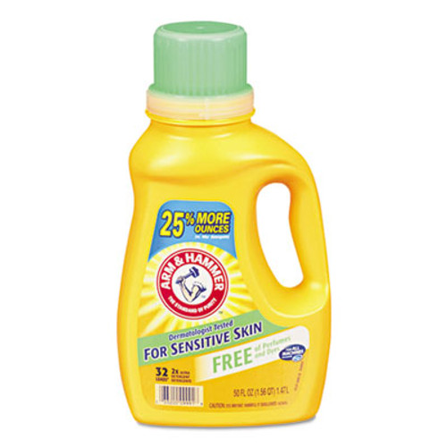 Arm & Hammer HE Compatible Liquid Detergent  Unscented  50 oz Bottle (CDC3320000103EA)