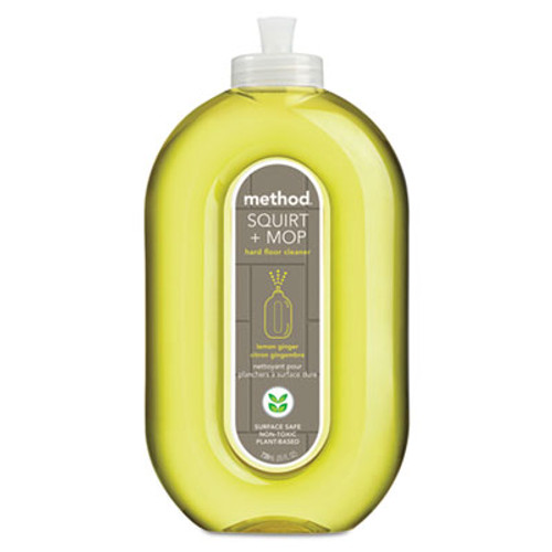 Method Squirt + Mop Hard Floor Cleaner, 25 oz Spray Bottle, Lemon Ginger Scent (MTH00563)