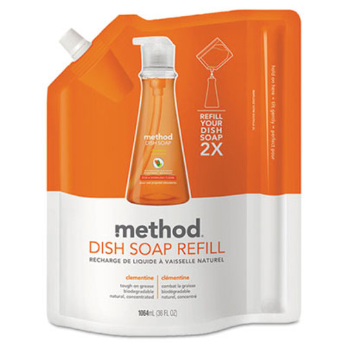Method Dish Soap Refill  Clementine Scent  36 oz Pouch (MTH01165)