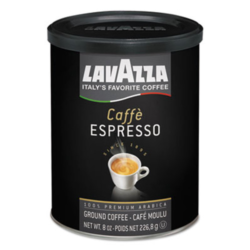 Lavazza Caffe Espresso Ground Coffee  Medium Roast  8 oz Can (LAV1450)