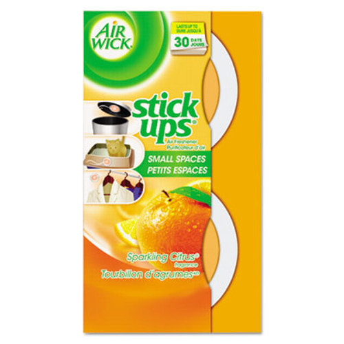 Air Wick Stick Ups Air Freshener  2 1 oz  Sparkling Citrus  12 Carton (RAC85826CT)