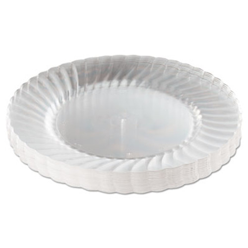 WNA Classicware Plastic Plates  9  Dia   Clear  12 Plates Pack  15 Packs Carton (WNARSCW91512)