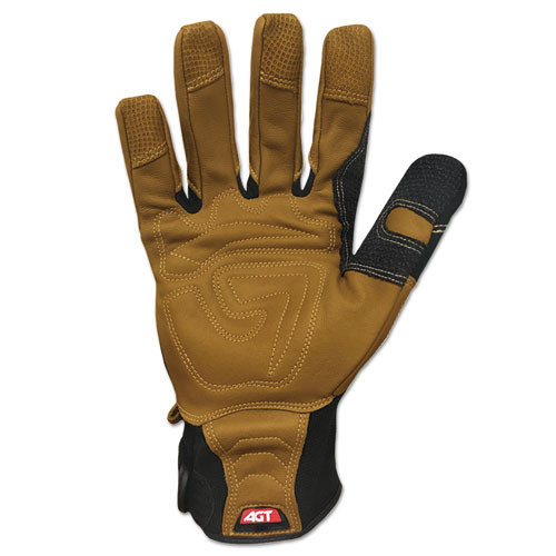 Ironclad Ranchworx Leather Gloves  Black Tan  Medium (IRNRWG203M)