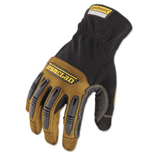 Ironclad Ranchworx Leather Gloves  Black Tan  X-Large (IRNRWG205XL)