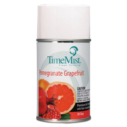 TimeMist Premium Metered Air Freshener Refill  Pomegranate Grapefruit  6 6 oz Aerosol  12 Carton (TMS1047605)