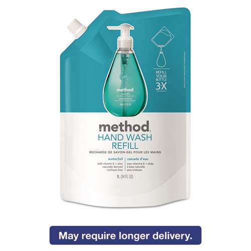 Method Gel Hand Wash Refill  Waterfall  34 oz Pouch (MTH01181)