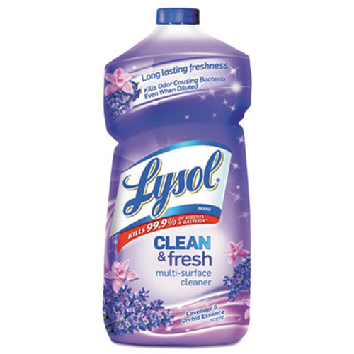 LYSOL Brand Clean and Fresh Multi-Surface Cleaner  Lavender and Orchid Essence  40 oz Bottle (RAC78631EA)