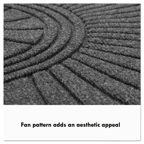 Guardian EcoGuard Diamond Floor Mat  Double Fan  36 x 96  Charcoal (MLLEGDDF030804)