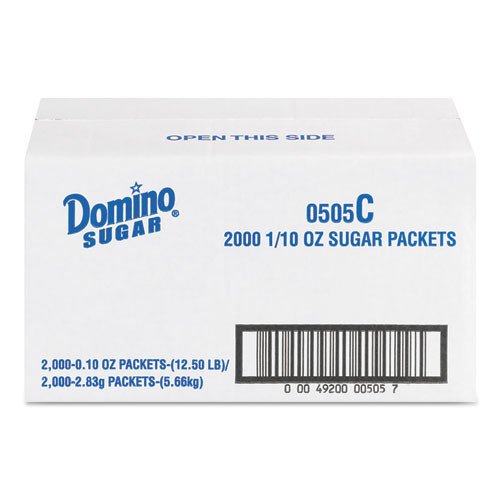 Domino Sugar Portion Packets  0 1 oz Packets  2000 Carton (DMN845354)