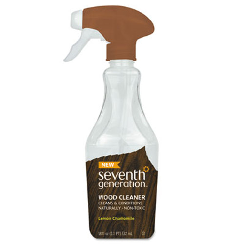 Seventh Generation Natural Wood Cleaner, Lemon Chamomile, 18 oz Spray Bottle (SEV22856)