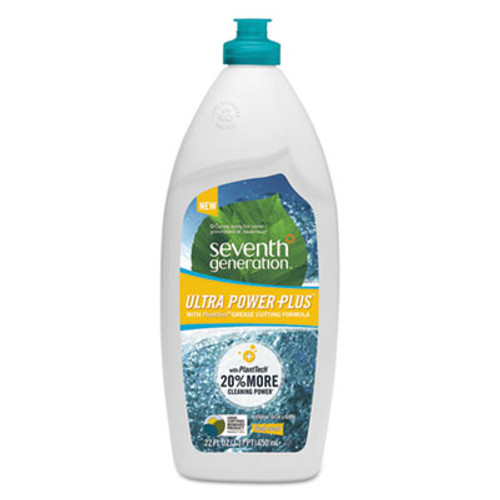 Seventh Generation Natural Dishwashing Liquid  Ultra Power Plus  Fresh Citrus  22 oz Bottle (SEV22928)