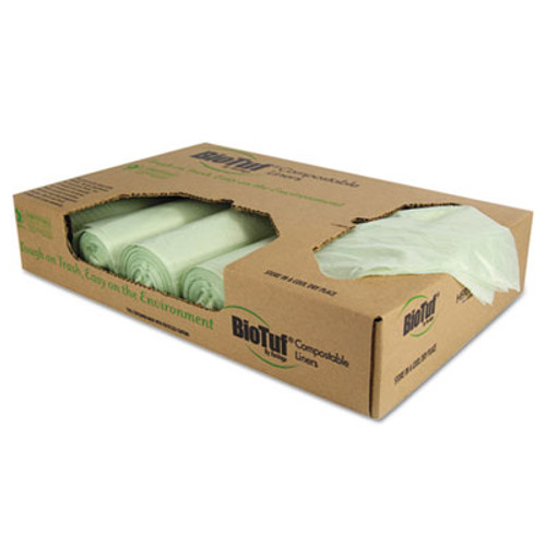 Heritage Biotuf Compostable Can Liners  48 gal  1 mil  42  x 48   Green  100 Carton (HERY8448YER01)
