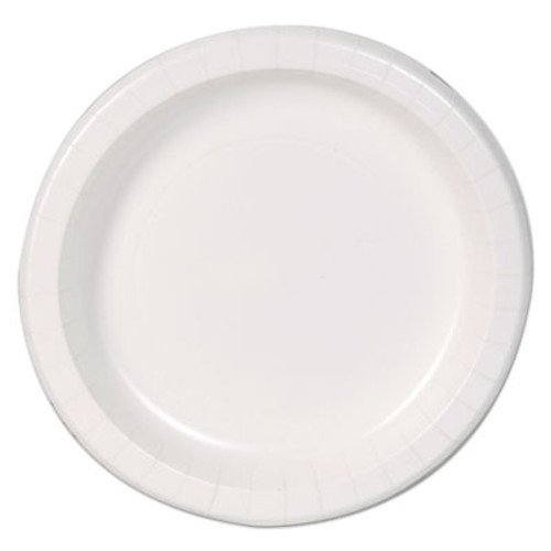 """Dixie Basic Basic Paper Dinnerware, Plates, White, 8.5"""" Diameter, 125/Pack (DXEDBP09W)"""