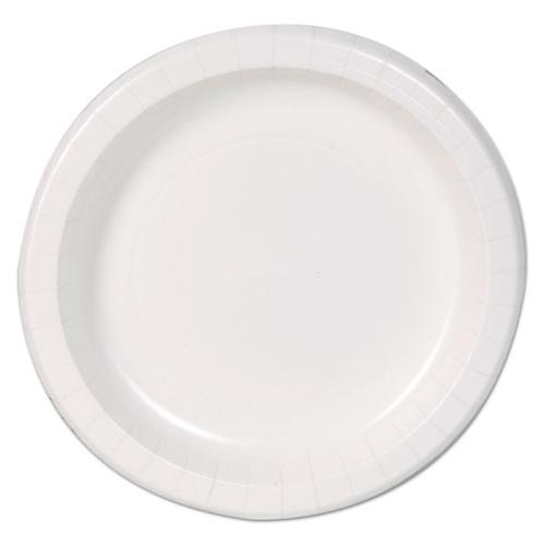 Dixie Basic Basic Paper Dinnerware  Plates  White  8 5  Diameter  125 Pack (DXEDBP09W)
