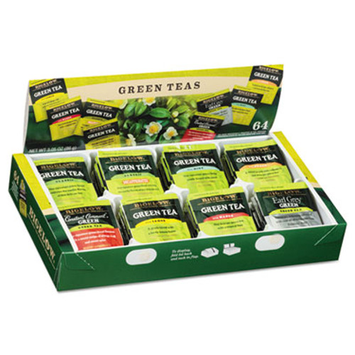 Bigelow Green Tea Assortment  Tea Bags  64 Box  6 Boxes Carton (BTC30568CT)