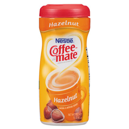 Coffee-mate Non-Dairy Powdered Creamer, Hazelnut, 15 oz Canister, 12/Carton (NES12345CT)