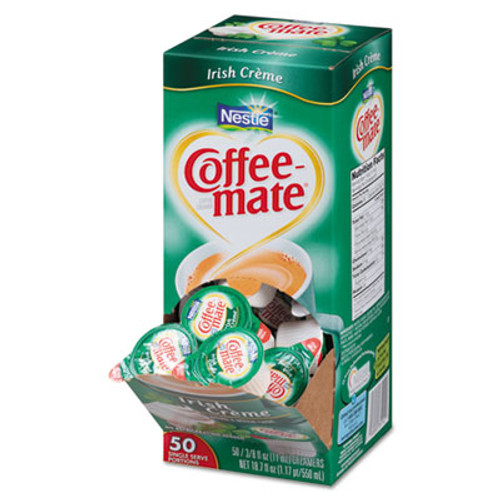 Coffee mate Liquid Coffee Creamer  Irish Creme  0 38 oz Mini Cups  50 Box  4 Boxes Carton  200 Total Carton (NES35112CT)