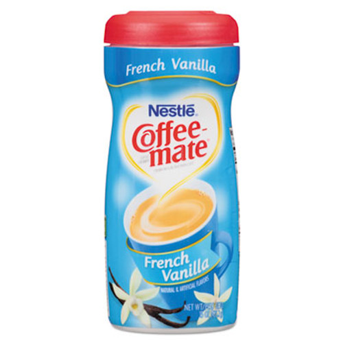 Coffee mate Non-Dairy Powdered Creamer  French Vanilla  15 oz Canister  12 Carton (NES35775CT)