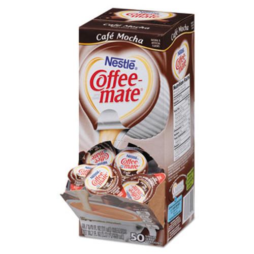 Coffee mate Liquid Coffee Creamer  Cafe Mocha  0 38 oz Mini Cups  50 Box  4 Boxes Carton  200 Total Carton (NES35115CT)