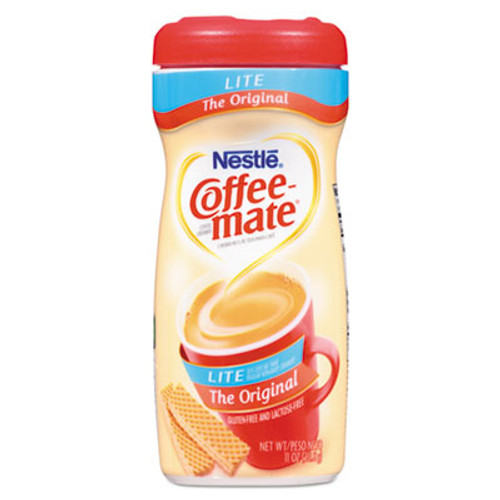 Coffee mate Powdered Original Lite Creamer  11 oz  Canister  12 Carton (NES74185CT)