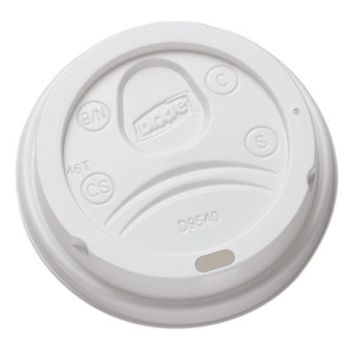 Dixie Sip-Through Dome Hot Drink Lids for 10 oz Cups  White  100 Pack  1000 Carton (DXEDL9540CT)
