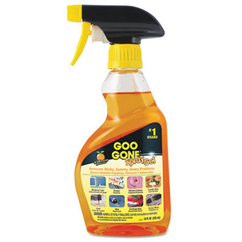 Goo Gone Spray Gel Cleaner  Citrus Scent  12 oz Spray Bottle (WMN2096EA)