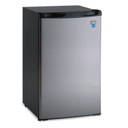 Avanti 4 4 CF Refrigerator  19 1 2 W x 22 D x 33 H  Black Stainless Steel (AVARM4436SS)