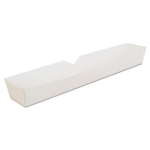 SCT Hot Dog Tray  White  10 1 4 x 1 1 2 x 1 1 4  Paperboard  500 Carton (SCH0711)