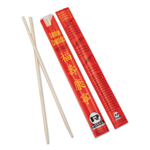 AmerCareRoyal ChoPolystyreneticks  Bamboo  9   Natural  1000 Carton (RPPR809)