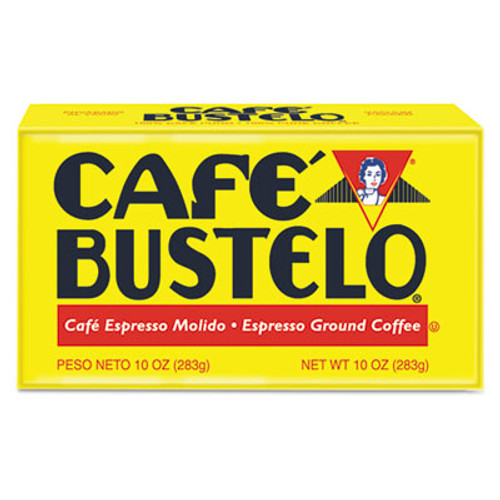 Caf?© Bustelo Coffee  Espresso  10 oz Brick Pack  24 Carton (FOL01720CT)