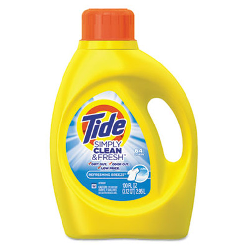 Tide Simply Clean & Fresh Laundry Detergent, Refreshing Breeze, 100 oz Bottle (PGC89129EA)