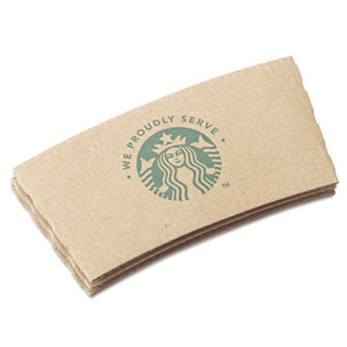 Starbucks Cup Sleeves  For 12 16 20 oz Hot Cups  Kraft  1380 Carton (SBK11020575)