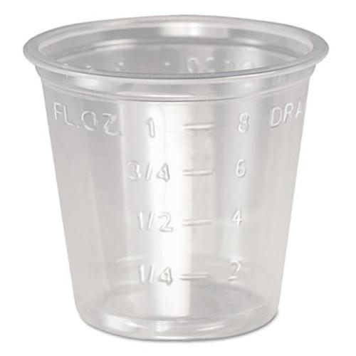 Dart Plastic Medical   Dental Cups  1 oz  Clear  Graduated  5000 Carton (DCCP101M)