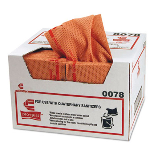 Chix Pro-Quat Fresh Guy Food Service Towels, Heavy Duty, 12 1/2 x 17, Red, 150/Carton (CHI0078)
