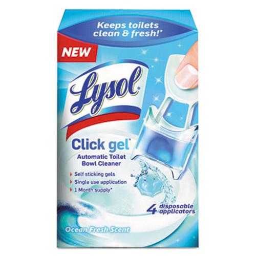 LYSOL Brand Click Gel Automatic Toilet Bowl Cleaner  Ocean Fresh  0 68 oz  4 Box (RAC92918)