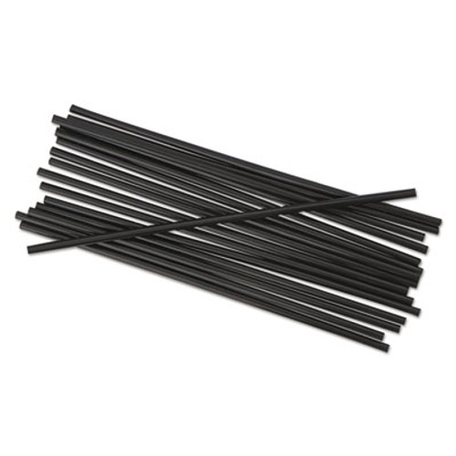 Boardwalk Single-Tube Stir-Straws  5 1 4   Black  1000 Pack (BWKSTRU525B10PK)