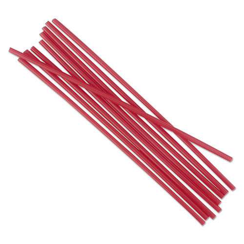 Boardwalk Single-Tube Stir-Straws  5 1 4   Red  1000 Pack (BWKSTRU525R10PK)