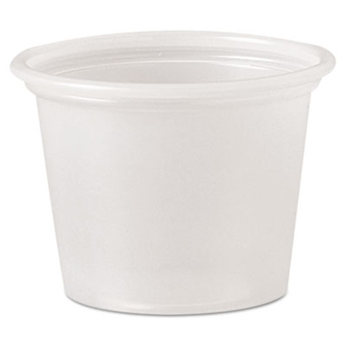 Dart Polystyrene Portion Cups  1 oz  Translucent  2500 Carton (DCCP100N)