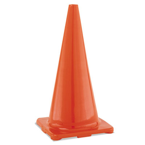 "Champion Sports Hi-Visibility Vinyl Cones, 28"" Tall, Orange (CSIC28OR)"