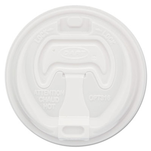 Dart Optima Reclosable Lids for Paper Hot Cups for 10-24 oz Cups  White  1000 Carton (SCCOPT316)